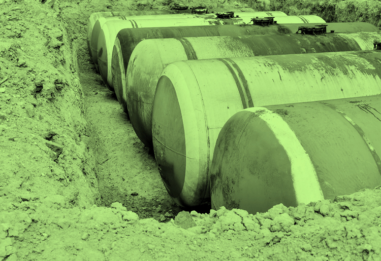 tank management large groundwater storage tanks in ground dug up on site